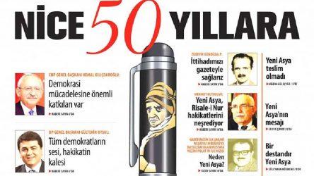 Kılıçdaroğlu Nurcuların 50. yılını kutladı!