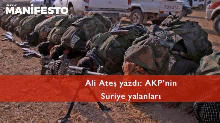 AKP'nin Suriye yalanları