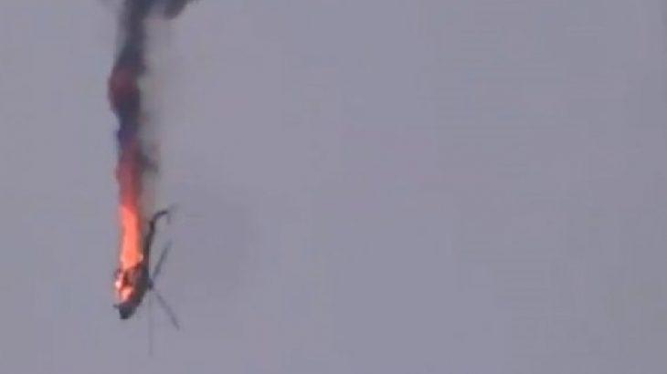 Cihatçılar saldırıyor: Suriye ordusunun helikopteri düşürüldü