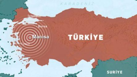 Manisa'da beş dakikada 5 deprem