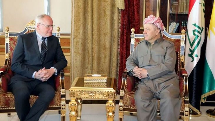 Mesud Barzani ve James Jeffrey Suriye'yi görüştü!