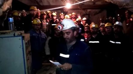 NESKO madencilik direnen işçilerin diyafon bağlantısını kesti!