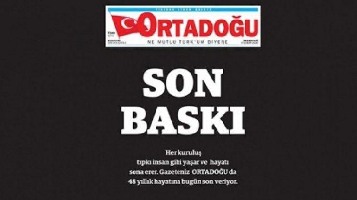 MHP'nin gazetesinden'son baskı': Bize ihanet edenlerin sonu da çok uzun olmayacak