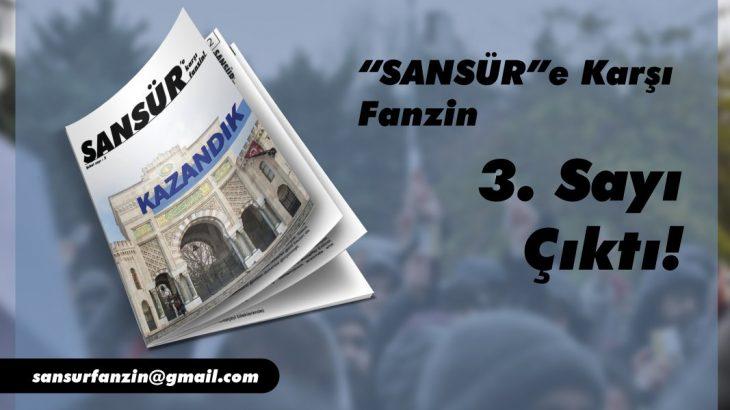 Sansür'e Karşı Fanzin'in 3. Sayısı Çıktı