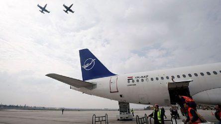 8 yıl aradan sonra Şam-Halep arası ilk uçuş