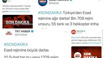 Suriye: Türkiye ve Batı medyası kayıplarımız konusunda yalan söylüyor