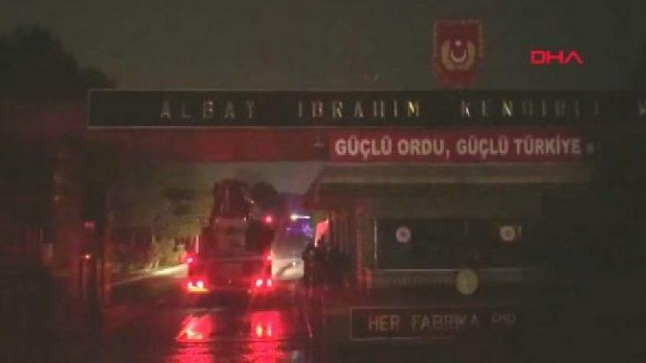 Tuzla'da Piyade Okul Komutanlığı'nda yangın