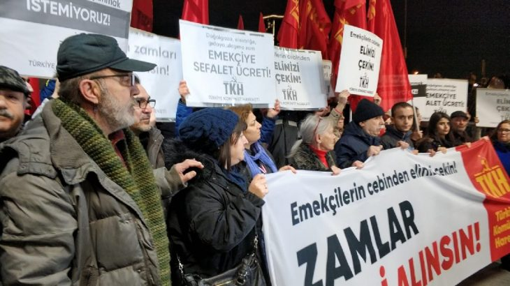 Komünistlerden ulaşım zammına karşı eylem: Emekçilerin cebinden elinizi çekin