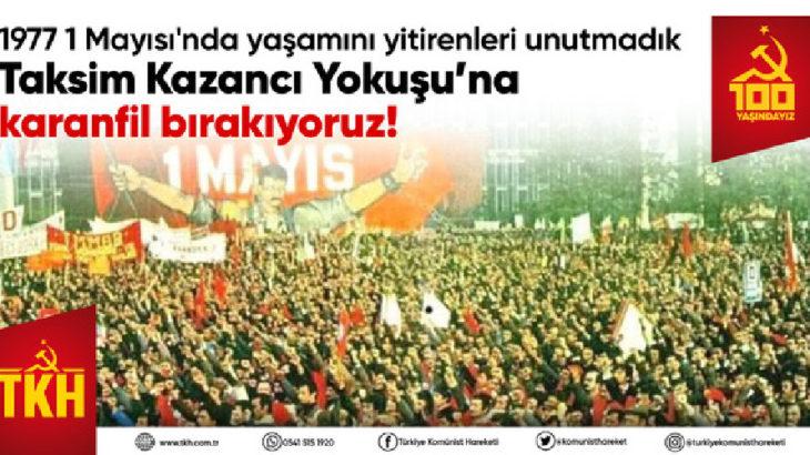 TKH, Taksim Kazancı Yokuşu'na karanfil bırakacak