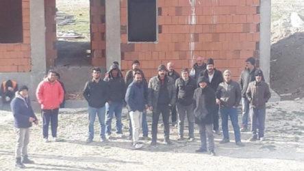 3 aylık maaşları ödenmeden işten çıkartıldılar: Şantiyeyi terketmeleri için elektrikleri ve suları kesildi