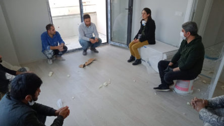 TKH Genel Başkanı Aysel Tekerek'ten emekçilere 1 Mayıs ziyaretleri