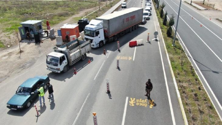 Elazığ Maden'de araç giriş ve çıkışlarına sınırlandırma