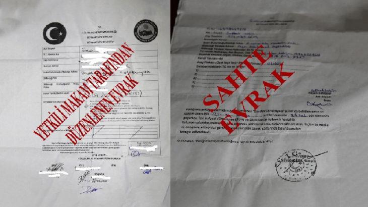 """""""Sahte seyahat izin belgelerini İstanbul Otogarı'nda satın aldık"""""""