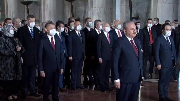 Meclis Başkanı'ndan Atatürk'e: Emin olun ki Türkiye ve TBMM emin ellerde