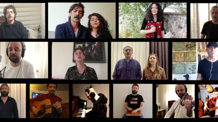 Sanatçılar 1 Mayıs Marşı'nı Sınıf Tavrı için söyledi