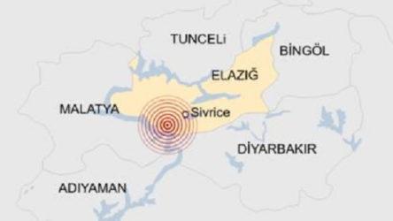 Elazığ'da 4.2 büyüklüğünde deprem oldu
