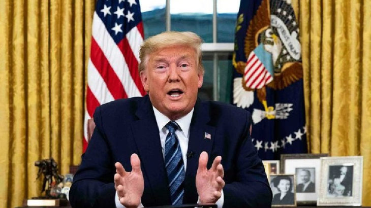 Trump'tan 'silah kullanmama' duası