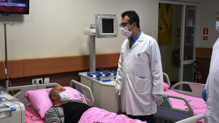 Türkiye'deki plazma tedavisi uygulanan ilk hasta, normal servise alınacak