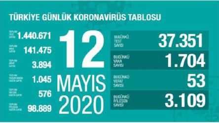 Türkiye'de koronavirüs: Son 24 saatte 53 can kaybı, 1704 yeni vaka