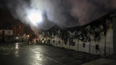 İnşaat işçilerinin kaldığı konteynırda yangın