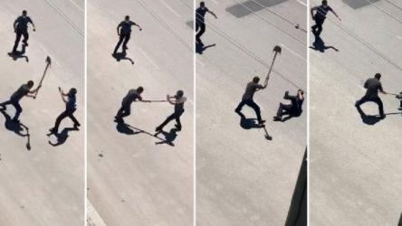Afyon'da bir şahıs ambulansa taşla, polise ise kürekle saldırdı