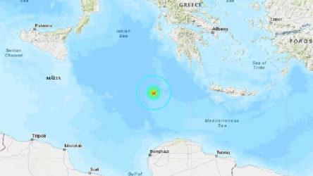 Akdeniz'de son günlerdeki en büyük deprem
