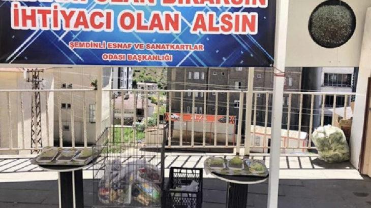 AKP'li belediye yardım standına el koydu