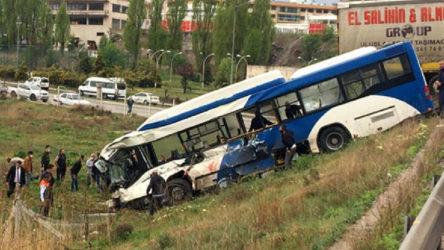 Ankara'da TIR ile EGO otobüsü çarpıştı: 9 yaralı