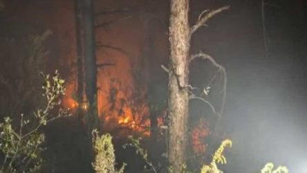 Atılan havai fişekler Aydos'ta yangına yol açtı