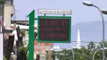 Bursa'da 75 yılın sıcaklık rekoru