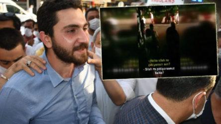 VİDEO   CHP'li Eren Yıldırım'a silah çekildiği anlar kameraya böyle yansıdı