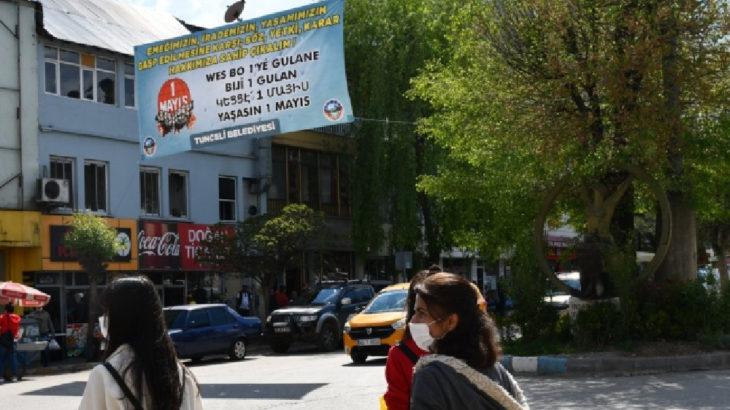 Valilik komünist belediyenin 1 Mayıs pankartını indirdi!