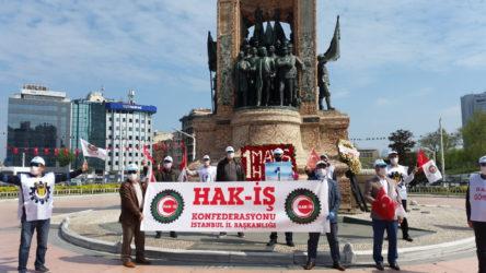 Taksim DİSK'e yasak Hak-İş'e serbest!
