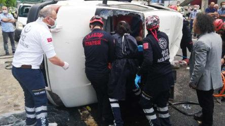 Trabzon'da dolmuş ile kamyon çarpıştı: Ölü ve yaralılar var