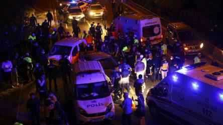 Ankara'da polis uygulama noktasına araç daldı