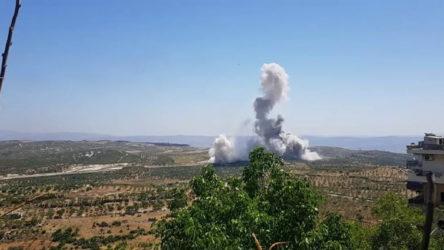 Cihatçı çetelerin provokasyonlarına sahne olan İdlib'te Türk askerlerinin geçişi sırasında patlama
