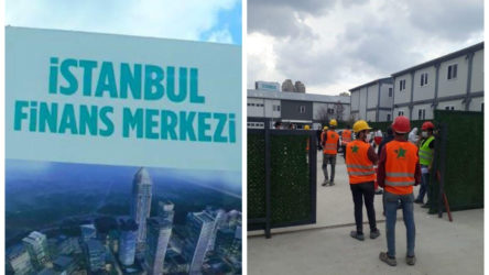 İstanbul'da finans merkezi inşaatında 25 işçide koronavirüs çıktı: Testi yaparken bile inşaatı durdurmadılar