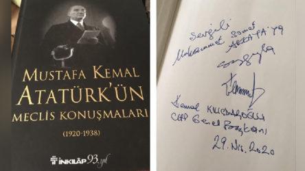 Kılıçdaroğlu'ndan Genç İmam Hatipliler Derneği Başkanı'na kitap hediyesi