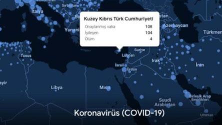 Google koronavirüs haritasına KKTC'yi de ekledi