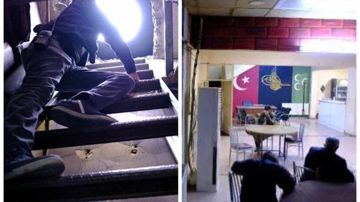 Konya'da polisten kaçmak için kıraathaneye tünel yapmışlar