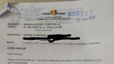 Koronavirüse yakalanan depo işçisi, tedavisi devam ederken tazminatsız işten çıkarıldı!