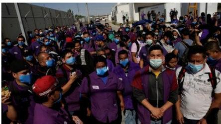 Meksika'da ABD için üretim yapan fabrikalara üretim baskısı: Önlemler hiçe sayılıyor, işçiler tehdit ediliyor