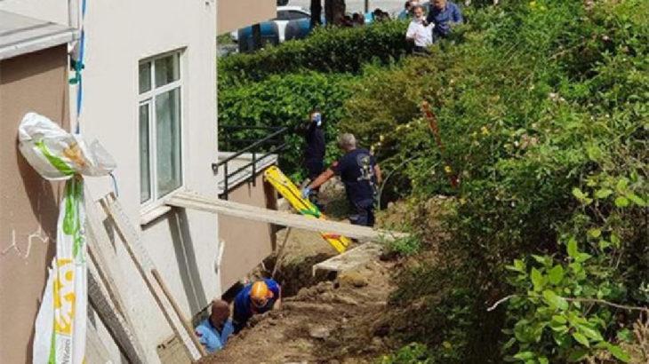 Tekirdağ'da duvar inşaatında toprak kayması: 2 işçi kurtarılmaya çalışılıyor