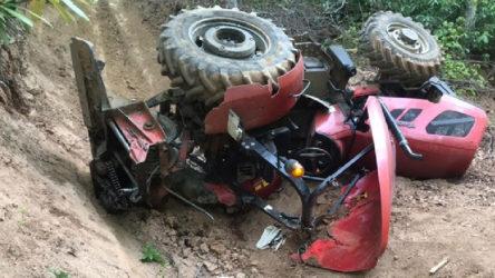 Orman işçilerini taşıyan traktör devrildi: 1 işçi hayatını kaybetti