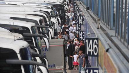Yasak sona erdi, terminallerde yoğunluk başladı