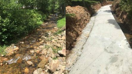 Irmağa ıslah adı altında beton döktüler!