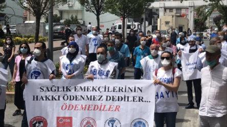 Sağlık emekçilerinden ülke genelinde eylem: 'Hakkınız ödenmez' dediler, ödemediler