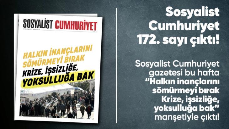Sosyalist Cumhuriyet e-gazete 172. sayı