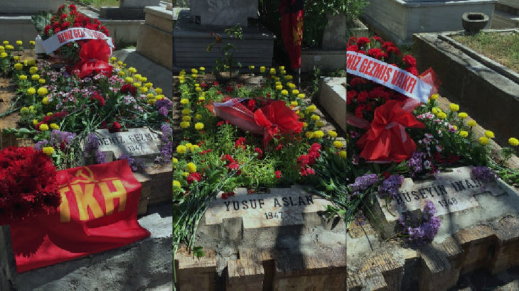 Komünistler Denizleri mezarları başında andı