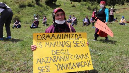 Trabzon Çayırbağı'nda salgın fırsatçılığına tepki: Ormanlarımızı talan ettirmeyeceğiz!